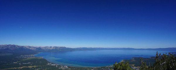 遠くまで広がる湖(海外出張の合間に)