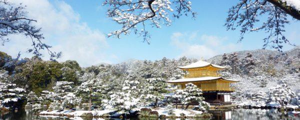 冬の京都金閣寺